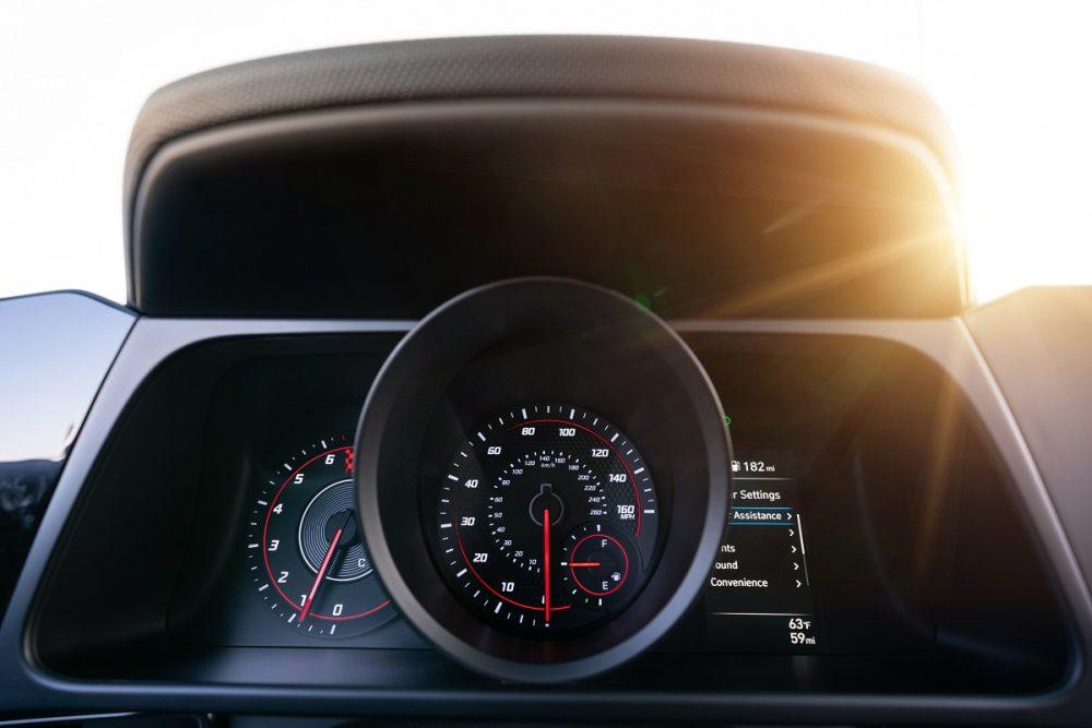 2021 Hyundai Elantra N Line driver display