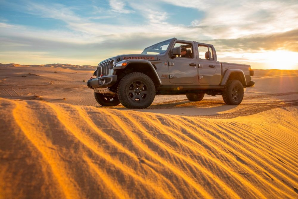 The 2021 Jeep Gladiator Mojave in a desert