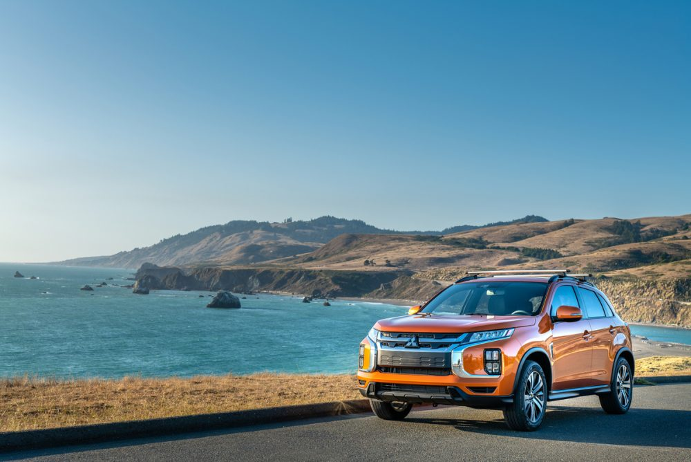 The 2021 Outlander Sport by the sea