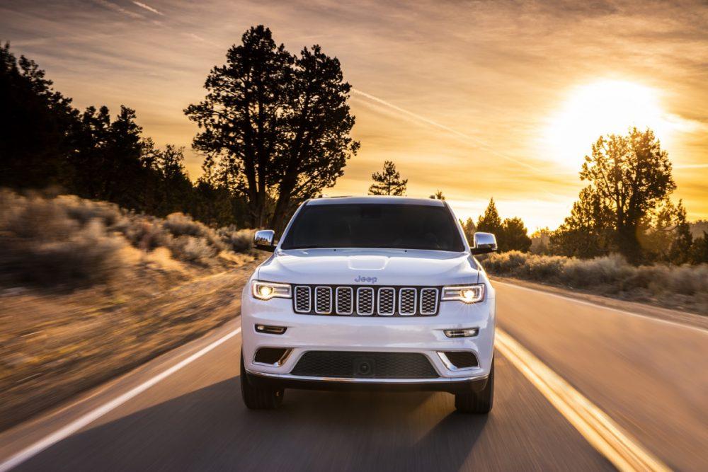 The 2021 Jeep Grand Cherokee Summit on the street