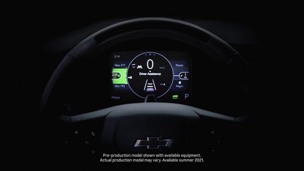 Chevrolet Bolt EUV's driver digital display