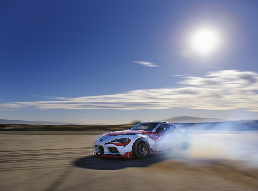 Toyota GR Supra drifting with autonomous driving AI tech