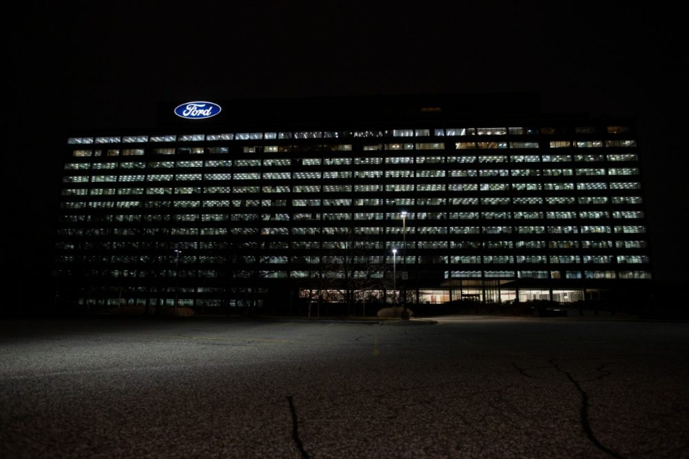 Ford lit up its World Headquarters in Dearborn on Tuesday, Jan. 19 to honor the more than 400,000 lives lost to COVID-19