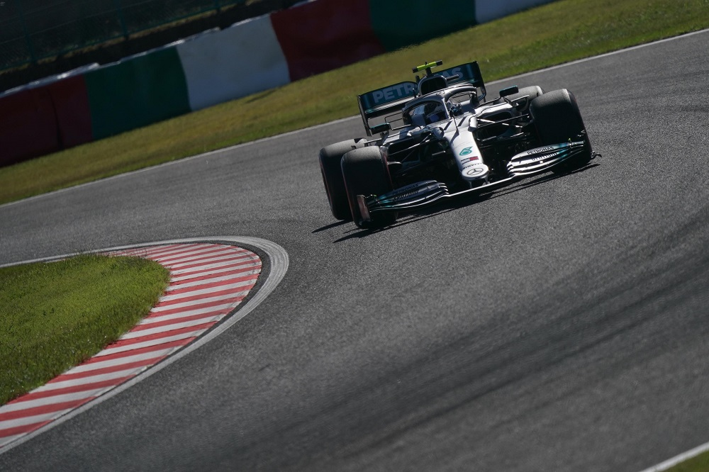 Mercedes during F1 2019 Japanese Grand Prix qualifying