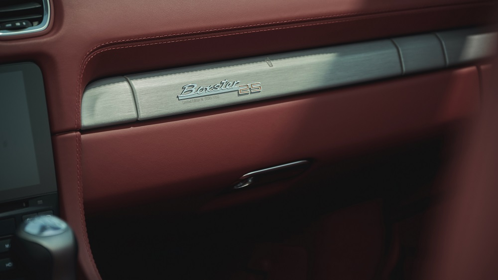 Porsche Boxster 25 Years (interior badging)
