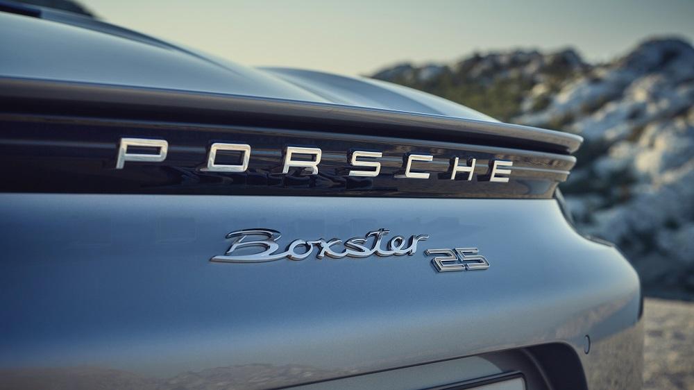Porsche Boxster 25 Years (rear badging)