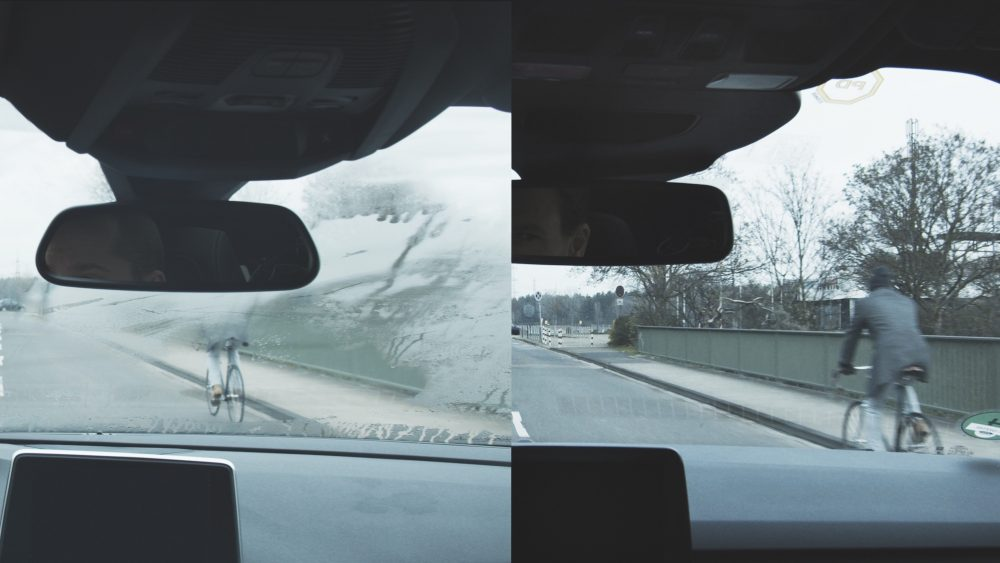 Comparison between fogged and non-fogged windows with Ford Windscreen Weather Station