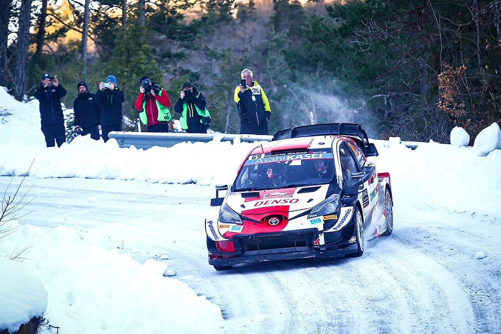 Yaris WRC shredding snow at Rallye Monte-Carlo
