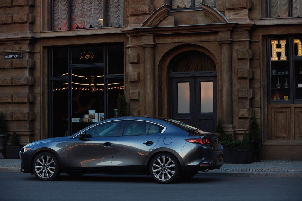 2020 Mazda3 Sedan parked in the city