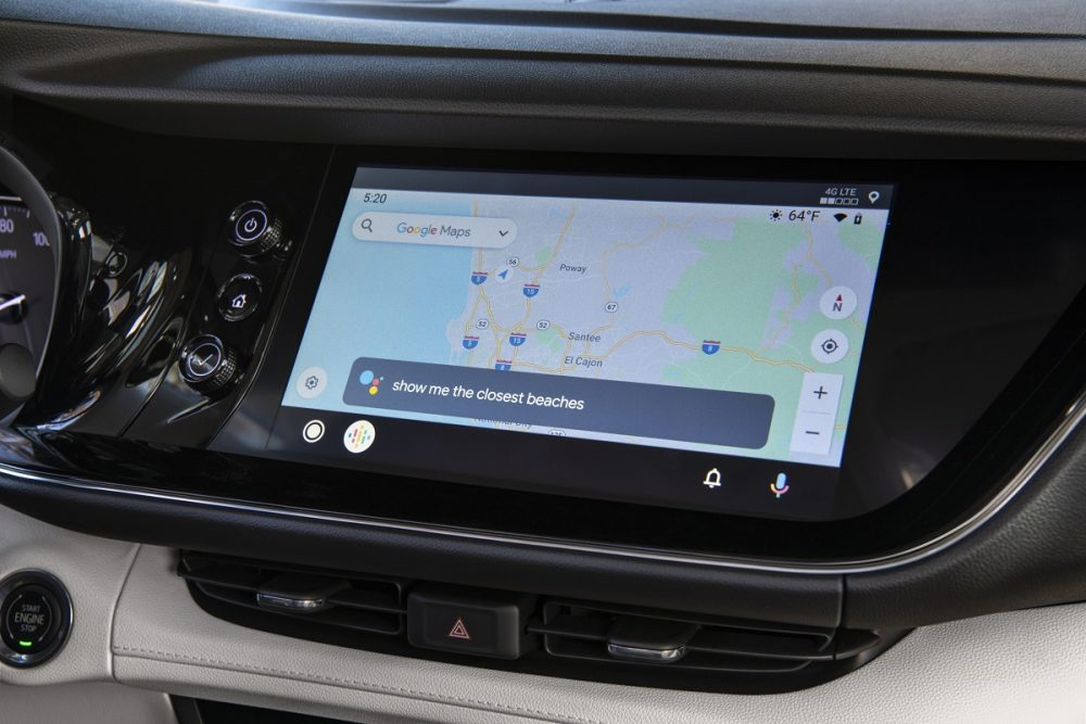Navigation screen in 2021 Buick Envision