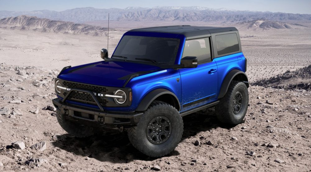 2021 Ford Bronco First Edition two-door in Lightning Blue | VIN 001 Bronco going to auction in Scottsdale