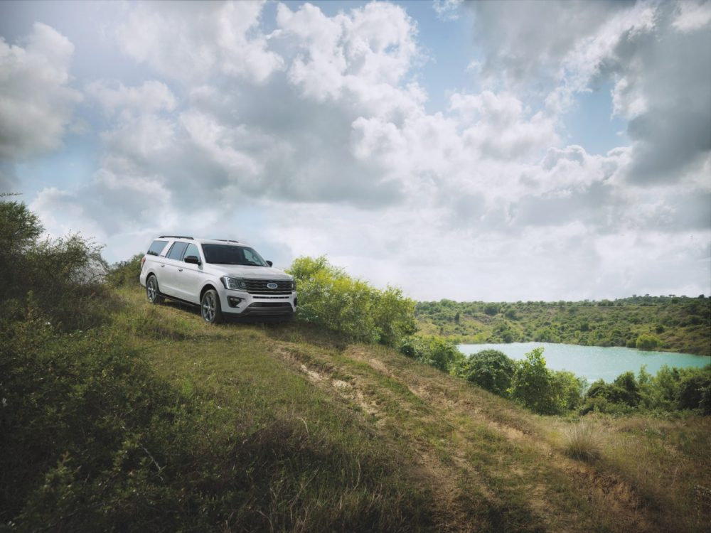 2021 Ford Expedition XL STX overlooking a lake