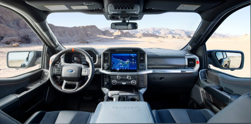 2021 Ford F-150 Raptor cabin view