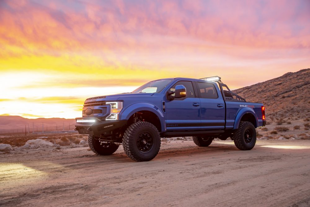 2021 Ford Shelby F-250 Super Baja by sunset