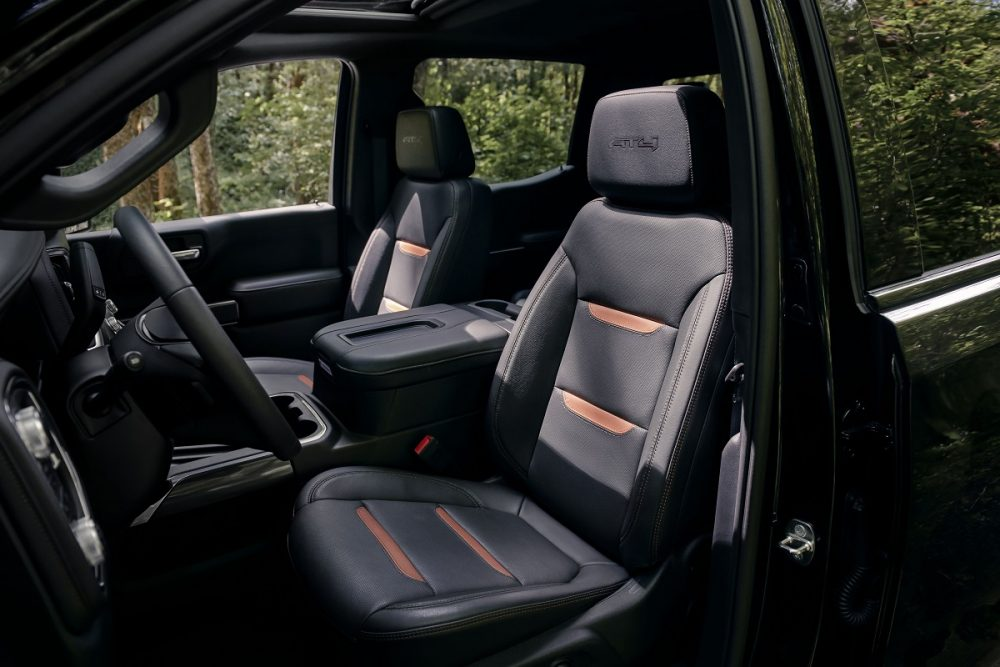 Front seat of 2021 GMC Sierra 1500 AT4