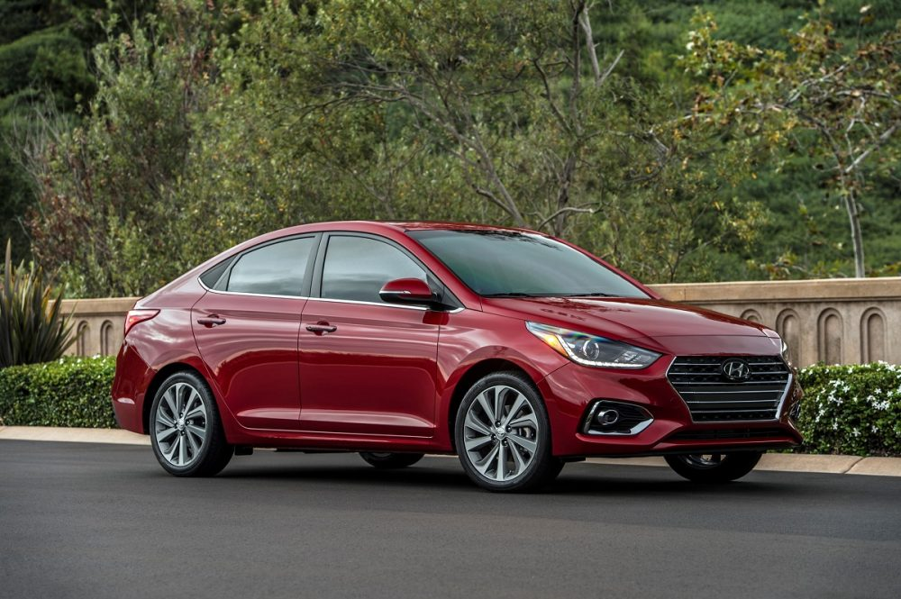 Front side view of parked 2021 Hyundai Accent