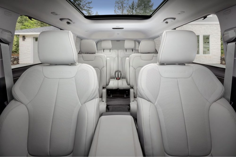 The three rows of the 2021 Jeep Grand Cherokee L
