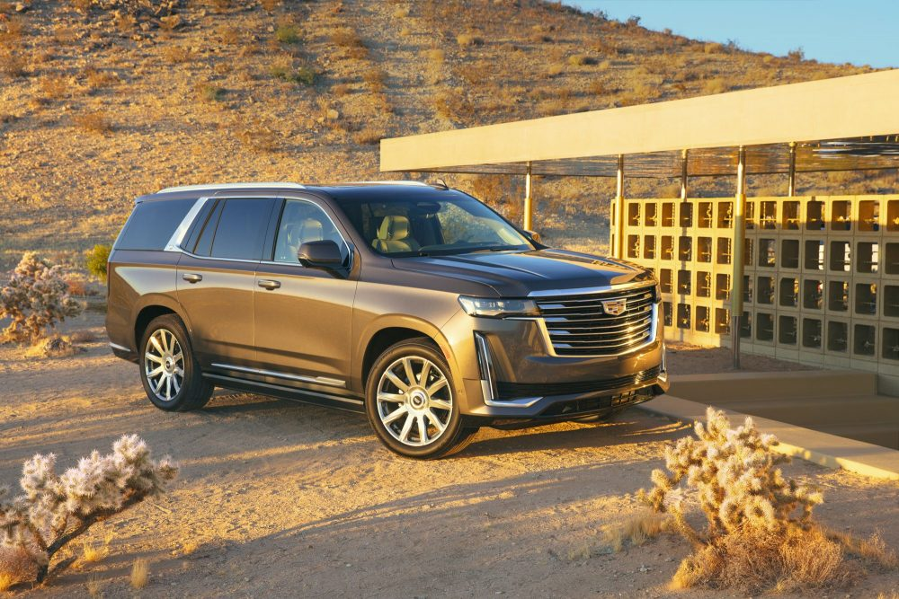 2021 Cadillac Escalade in the sunset