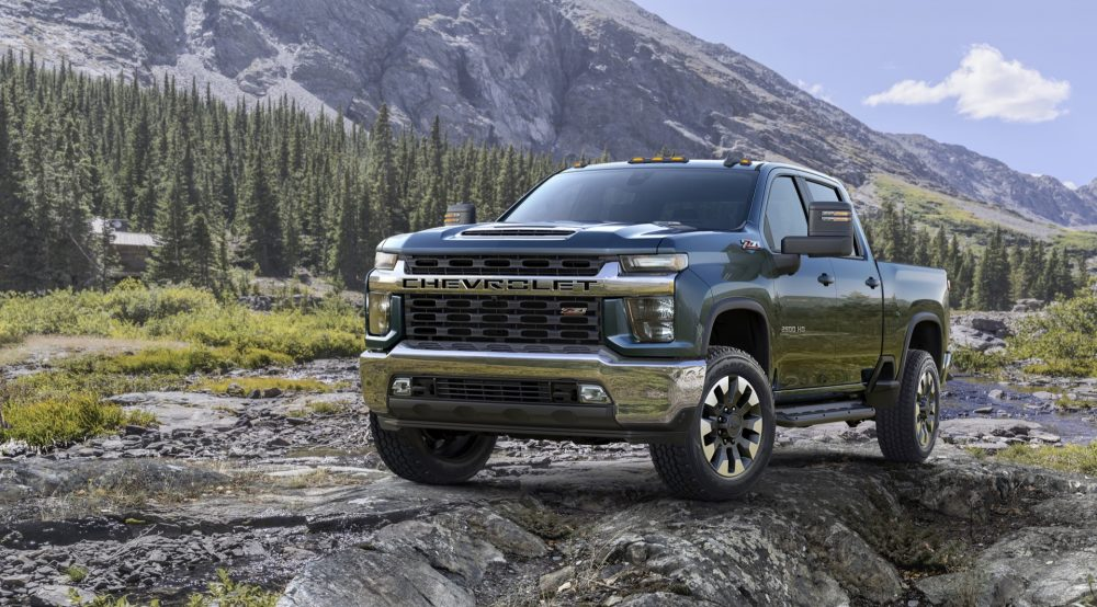 The 2021 Chevy Silverado HD amid the beauty of nature