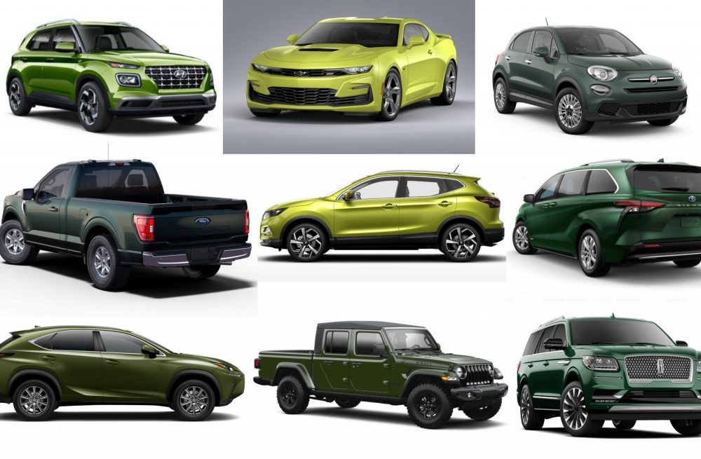 2021 green car paint colors