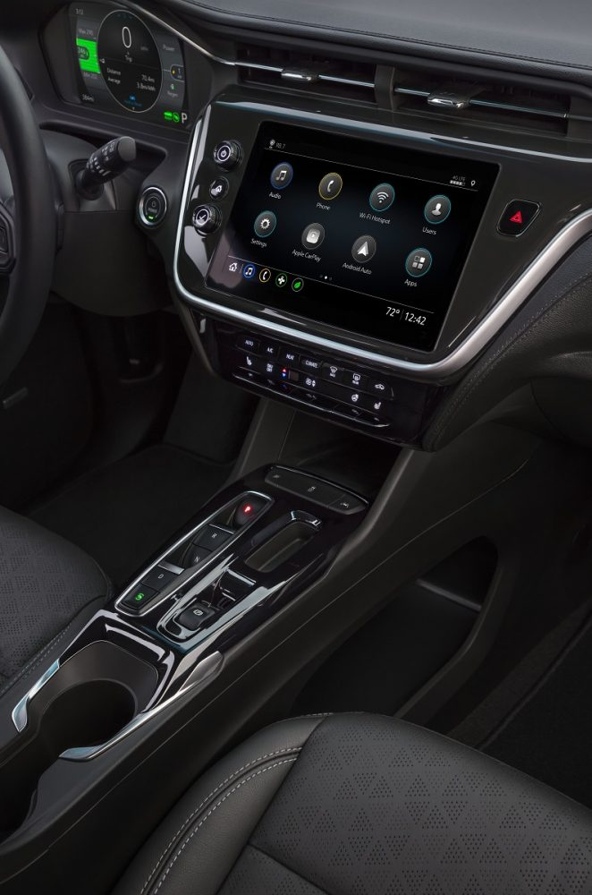 2022 Chevrolet Bolt EV console, shifter, and touch screen