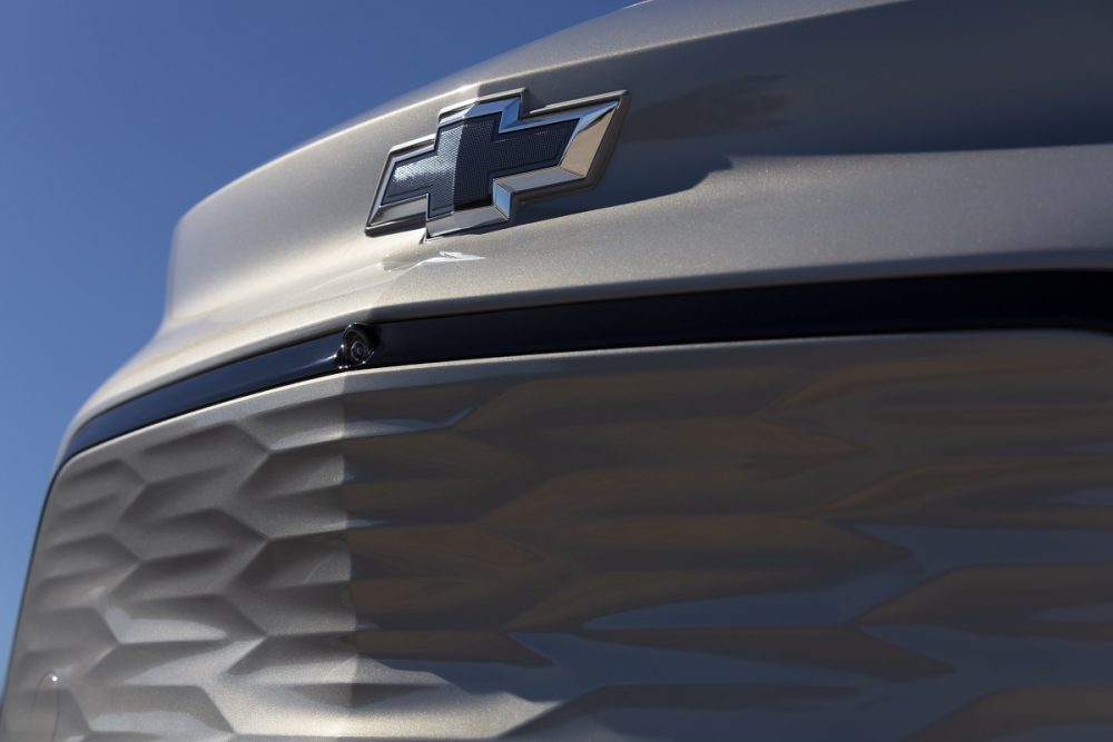 Close-up of 2022 Chevrolet Bolt EUV grille