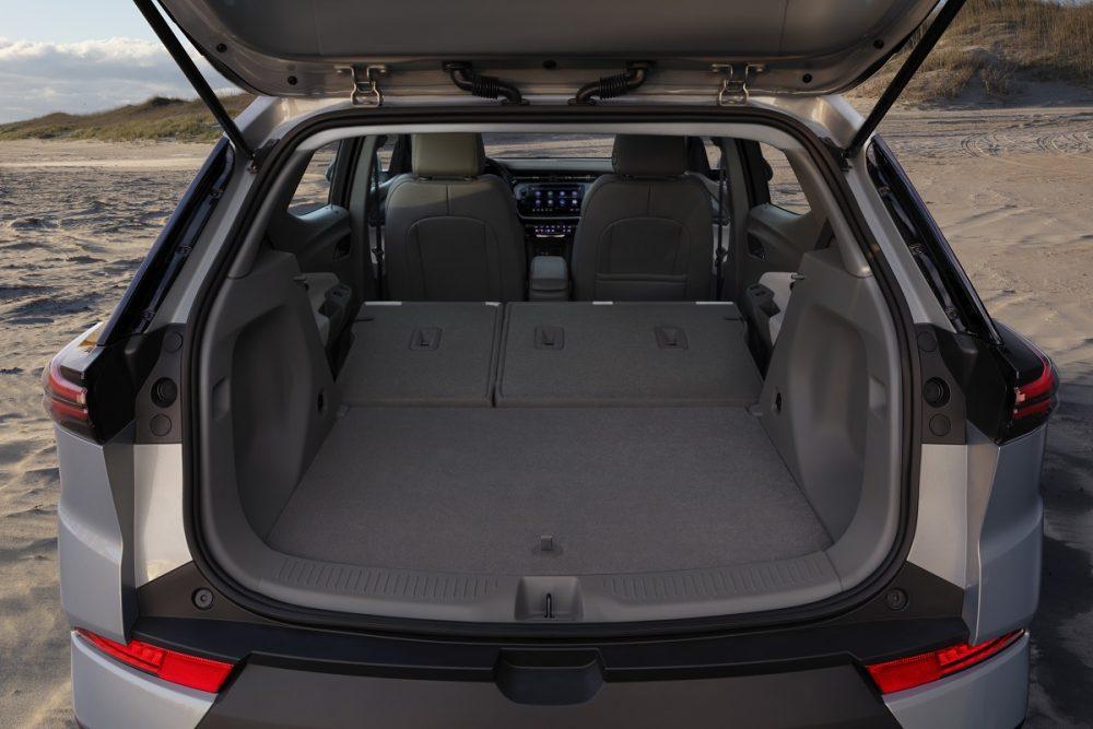 2022 Chevrolet Bolt EUV cargo bay with rear seats folded