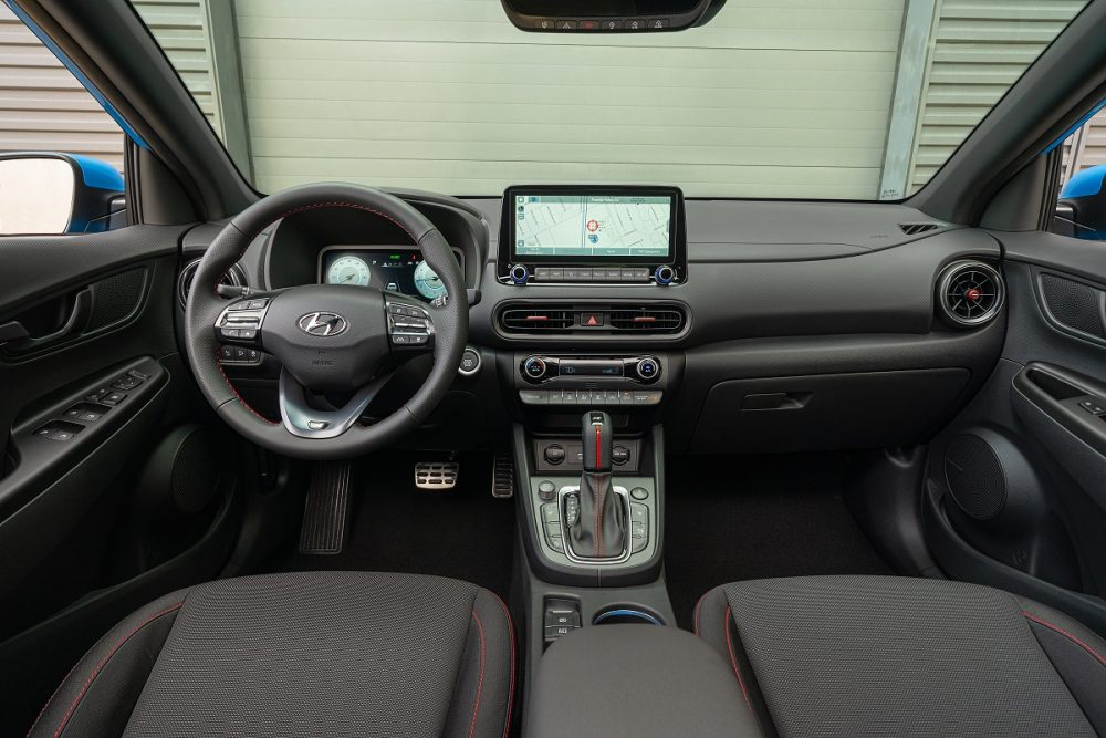 2022 Hyundai Kona N Line front seats and dashboard