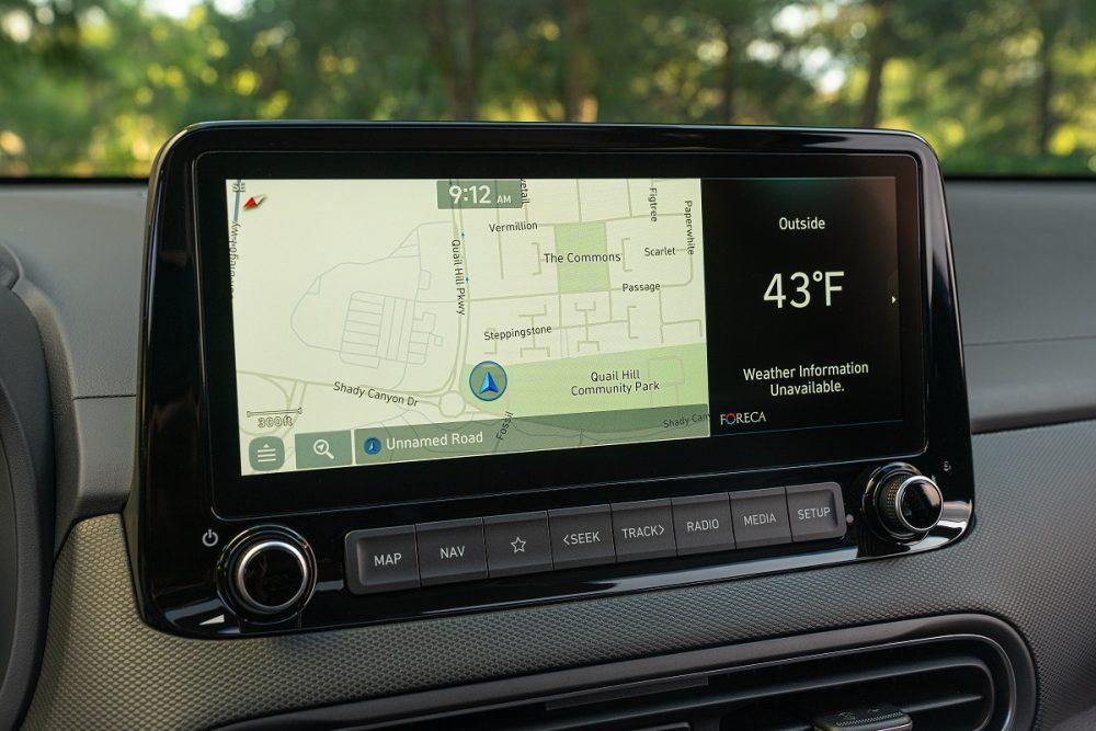 2022 Hyundai Kona infotainment touch screen