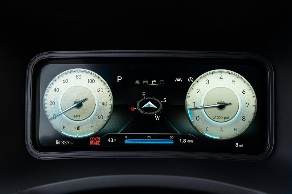 2022 Hyundai Kona digital gauge cluster