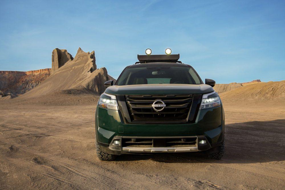 2022 Nissan Pathfinder parked in the desert