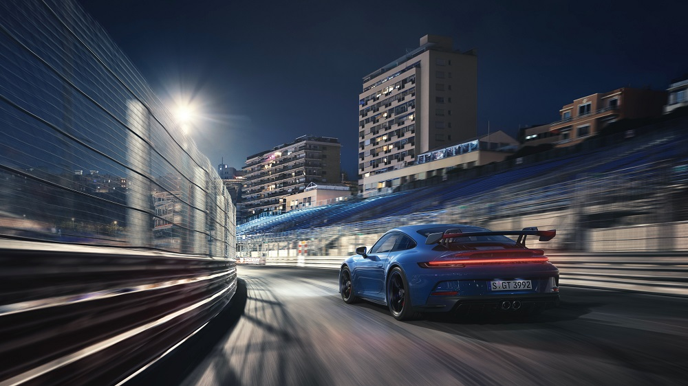 2022 Porsche 911 GT3 exiting a corner