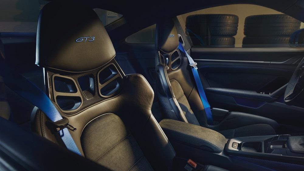 2022 Porsche 911 GT3 seat details