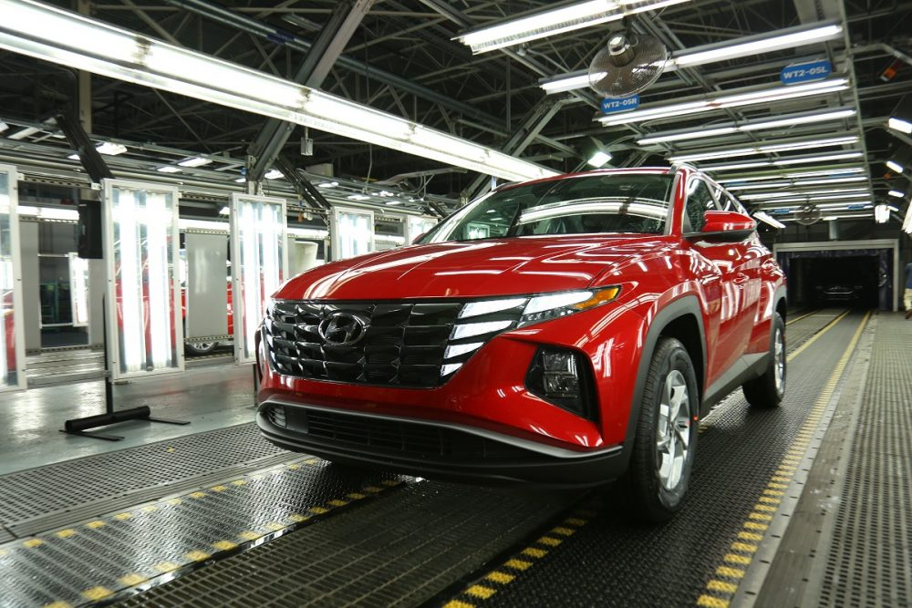 The 2022 Hyundai Tucson at the Hyundai Motor Manufacturing Alabama plant