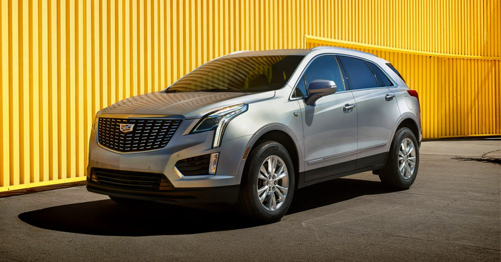 Front side view of Cadillac XT5