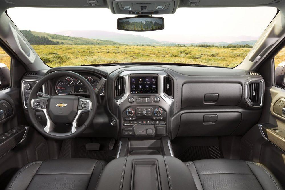 Front seat of Chevrolet Silverado 1500 LTZ