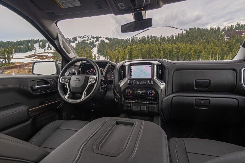 Front seat of Chevrolet Silverado 1500