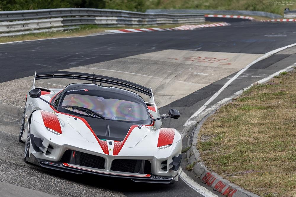 Ferrari FXX K Evo at Nordschleife's Carousel