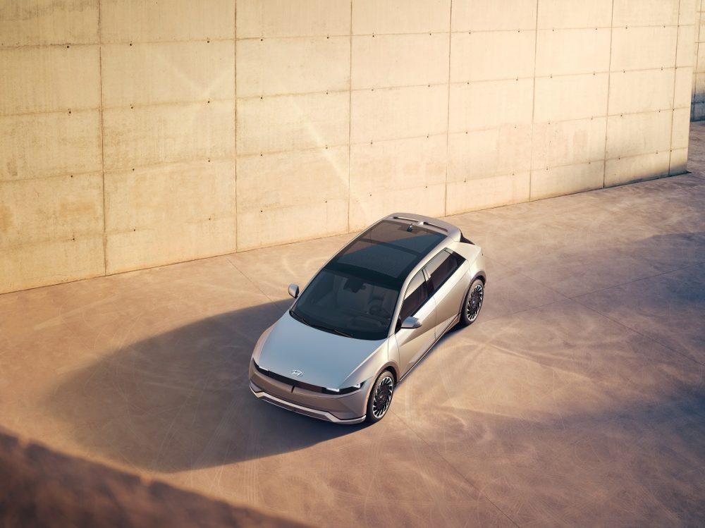Overhead view of 2022 Hyundai Ioniq 5 solar roof