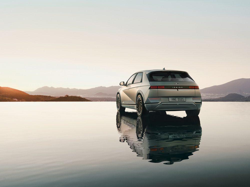 Rear view of 2022 Hyundai Ioniq 5