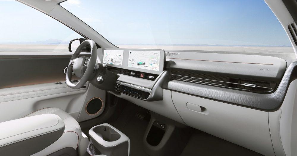 2022 Hyundai Ioniq 5 steering wheel and touch screens