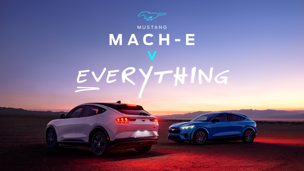 Mustang Mach-E v. Everything campaign hero image