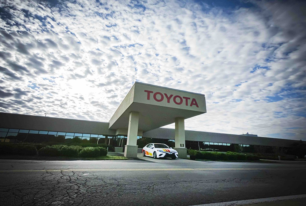 Front entrance at Toyota Motor Manufacturing West Virginia
