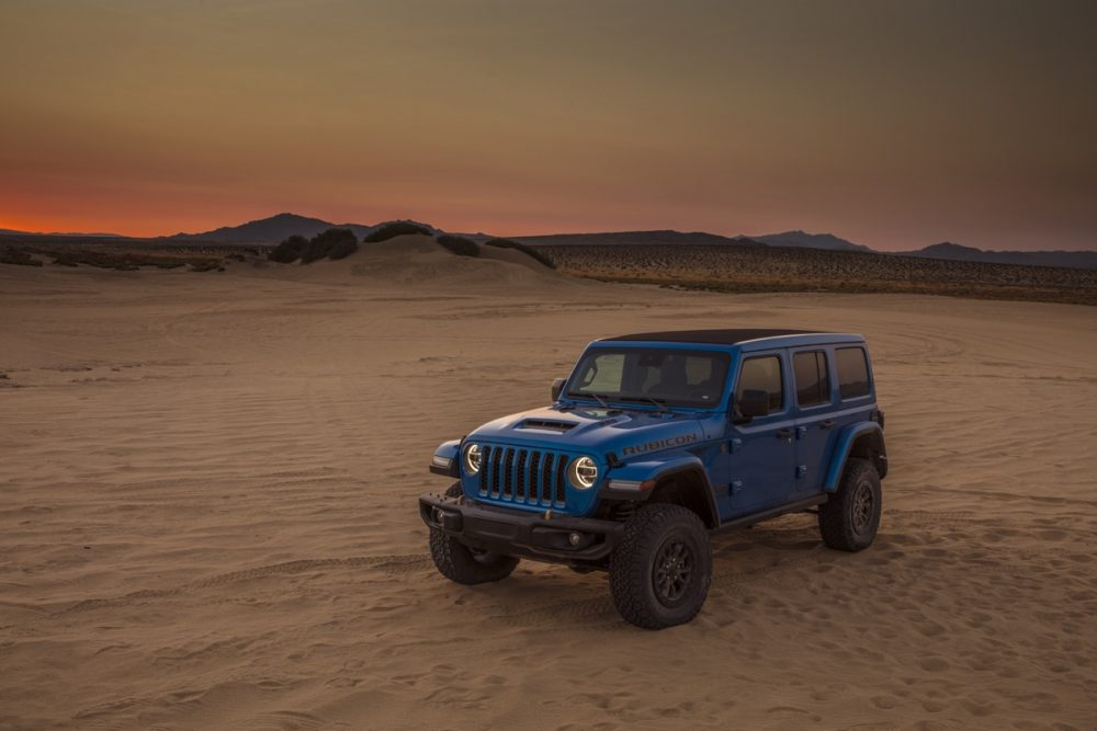 The 2021 Wrangler Rubicon 392 in a desert