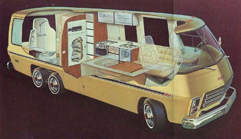 The 1973-1978 GMC MotorHome exterior and interior