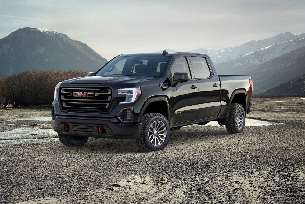 2021 GMC Sierra 1500 parked off-road by mountains