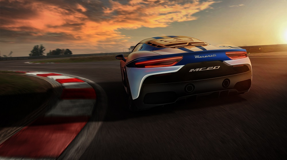 2021 Maserati MC20 at the track
