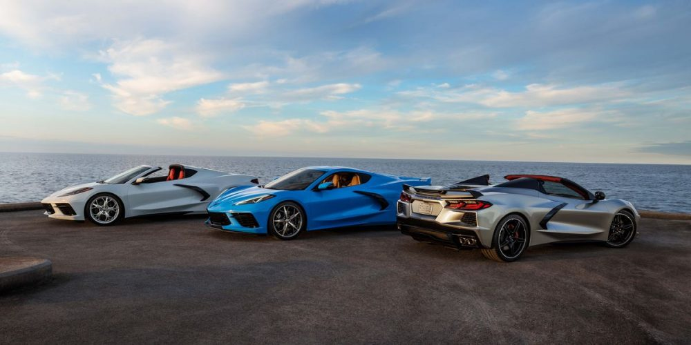 A trio of 2021 Corvettes