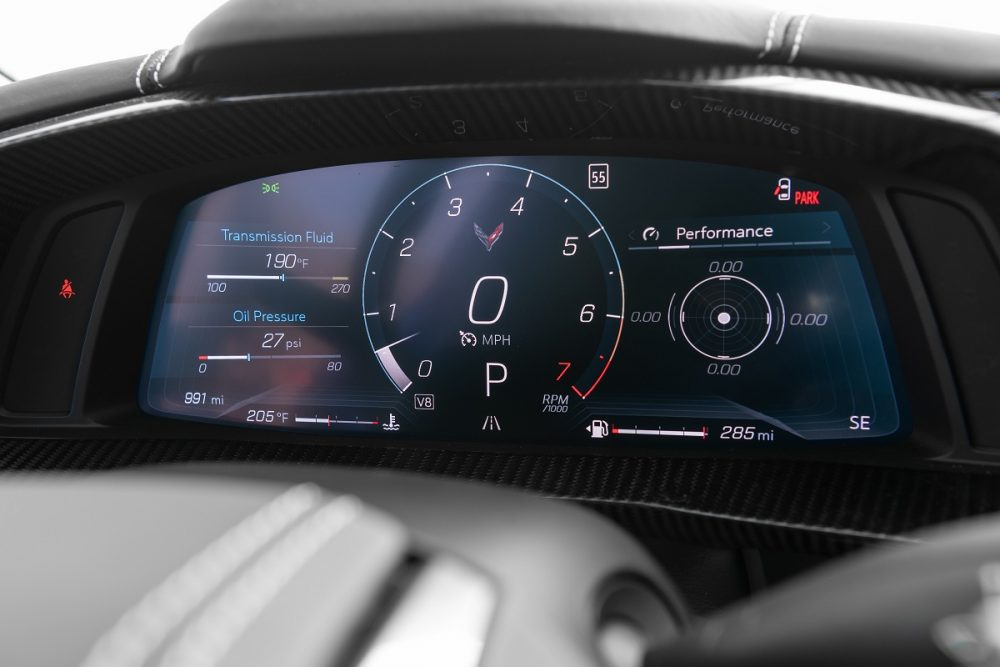 vehicle gauge cluster and driver display