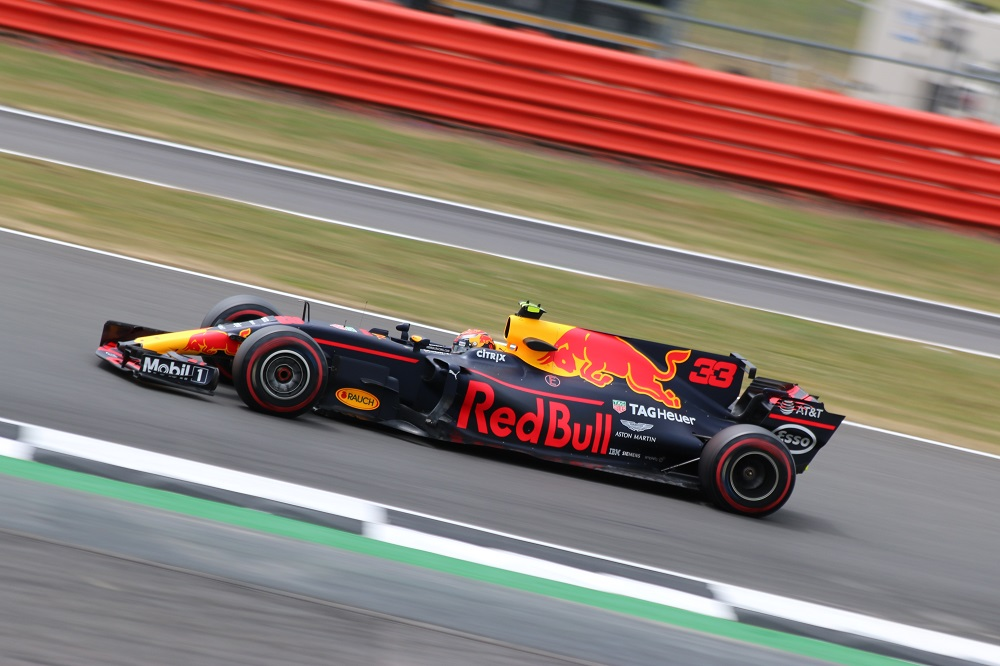 Max Verstappen in the No. 33 Red Bull Racing car